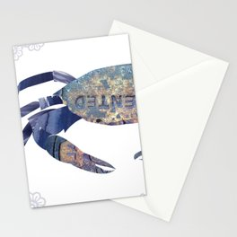Manhole Crab with Lace Stationery Cards