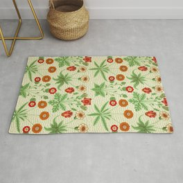 Daisy by William Morris 1862 Antique Vintage Pattern CC0 Spring Summer Rug