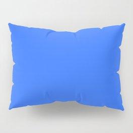 Ultra Marine Blue Solid Color Block Pillow Sham
