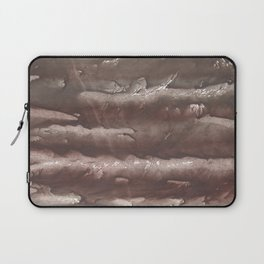 Brown Olive green stained watercolor pattern Laptop Sleeve