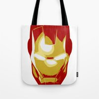 ironman Tote Bags featuring Ironman by Adel
