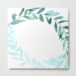 Watercolor Olive Branchs Metal Print