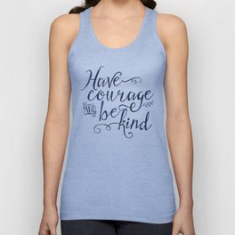 Have Courage and Be Kind (navy colorway) Unisex Tank Top