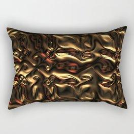 Liquid Gold Rectangular Pillow