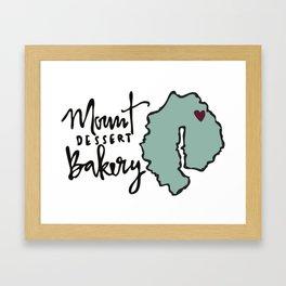Mount Dessert Bakery Logo Framed Art Print