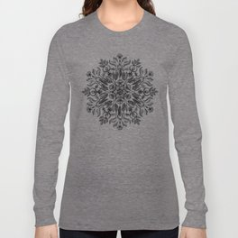 Thrive - Monochrome Mandala Long Sleeve T-shirt