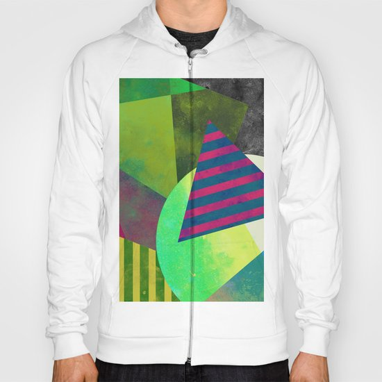 Textured Shapes - Abstract, geometric artwork Hoody