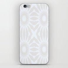 Gray & White Pinwheel Flower iPhone & iPod Skin