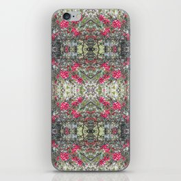 Very Berry Holly Christmas Multi Fractal from Photo 806 iPhone Skin