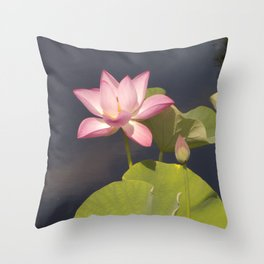 Pink Lotus by Teresa Thompson Throw Pillow