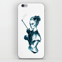 goth iPhone & iPod Skins featuring Bubble Goth by Daniella Gallistl