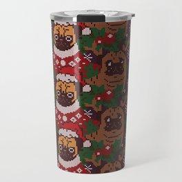 Christmas Party With The Pug Travel Mug