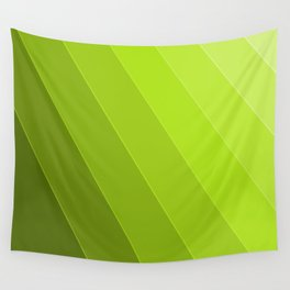 Green Gradient to Light Wall Tapestry