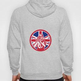 British Cameraman Union Jack Flag Icon Hoody