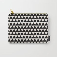 BLACK AND CREAM TRIANGLES Carry-All Pouch