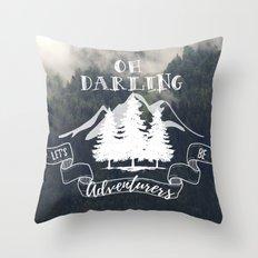Oh Darling Throw Pillow