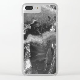Black and White Lightning Clear iPhone Case