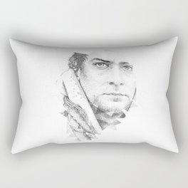 bonobo dot work portrait Rectangular Pillow