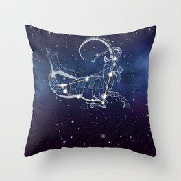 Capricon Star Throw Pillow
