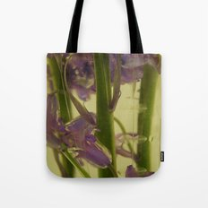 bluebells in water Tote Bag