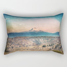Desert Mountain Adventure - Nature Photography Rectangular Pillow