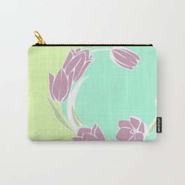 Tulips, botanical spring print Carry-All Pouch