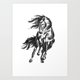 Sumi Horse Art Print