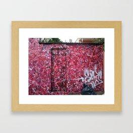 abstract graffiti Framed Art Print