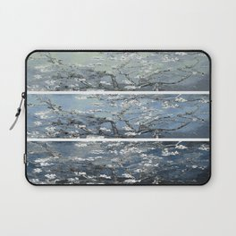 Vincent Van Gogh : Almond Blossoms Panel Art Blue Steel Teal Laptop Sleeve