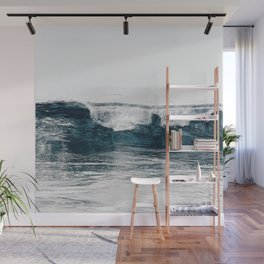 Glassy Blues Wall Mural
