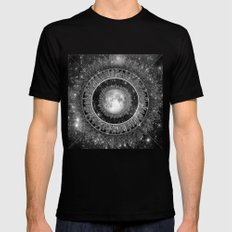 Major Tom (floating in my tin can, far above the Moon) MEDIUM Mens Fitted Tee Black