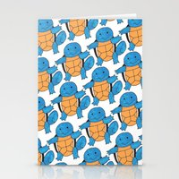 squirtle Stationery Cards featuring  1 Squirtle, 2 Squirtle, 3 Squirtle, 4 by pkarnold + The Cult Print Shop