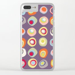 Atomic Circles | Mid Century Modern Style Clear iPhone Case