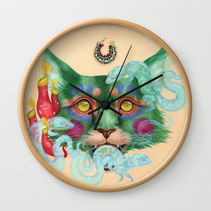 Thrice Wearing Out the Hide Wall Clock