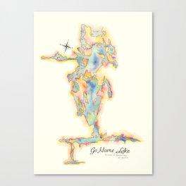 Go Home Lake - Coloured Map Canvas Print