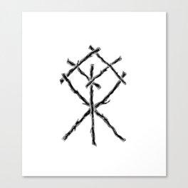 Rune Binding at Midnight Canvas Print