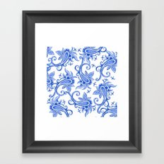 Paisley: Blue China Combo Framed Art Print