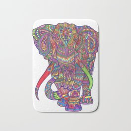 Elephant Mandala safari pattern Bath Mat