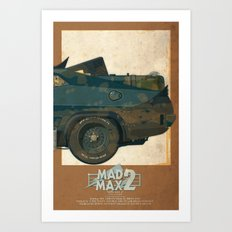 Mad Max's Black on Black Interceptor from The Road Warrior, 3 of 3 Art Print