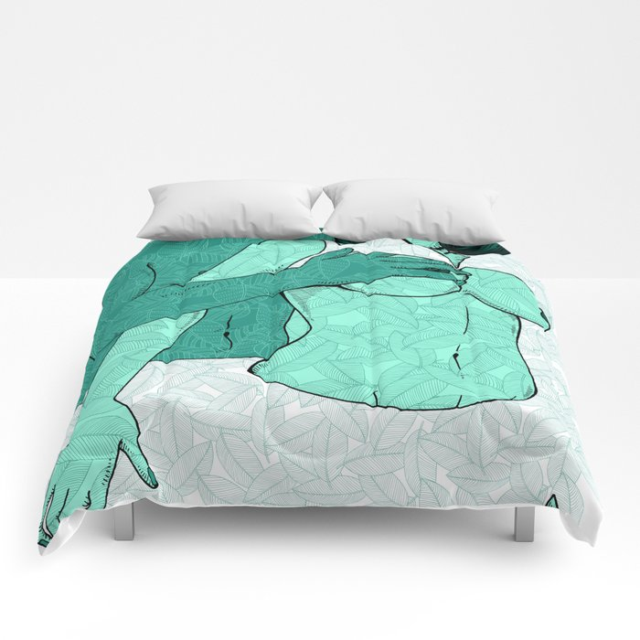 foreplay and leaves Comforters