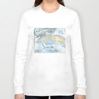 cuba Long Sleeve T-shirts featuring Cuba Sharks by Carly Mejeur