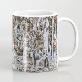 Texture of paper shredded wall Coffee Mug
