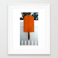 popsicle Framed Art Prints featuring Popsicle  by Photaugraffiti