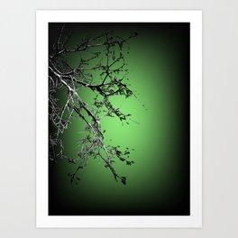 Glowin tree Art Print
