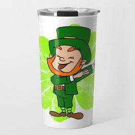 Dabbing Leprechaun St Patricks Day Gold Pot Travel Mug