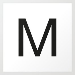 Letter M Art Print