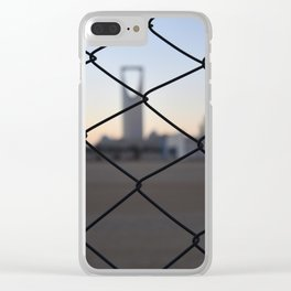 Kingdom Center in Saudi Arabia Clear iPhone Case