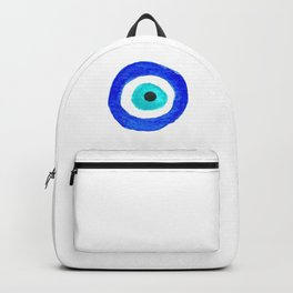 Single Evil Eye Amulet Talisman Ojo Nazar - on white Backpack
