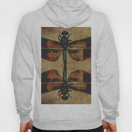 Dragonfly Mirrored on Leather Hoody