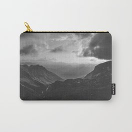 Valley - black and white landscape photography Carry-All Pouch